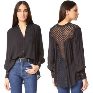 "FREE PEOPLE ""The Best Button Down"" Tunic Blouse"
